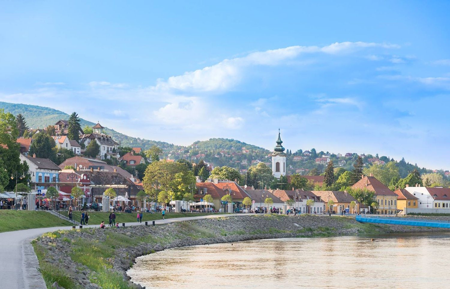 Riverside view of Szentendre - Budapest day trip