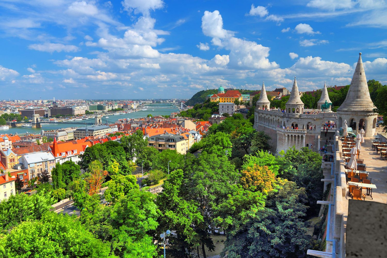 Budapest – Fishermans Bastion panorama